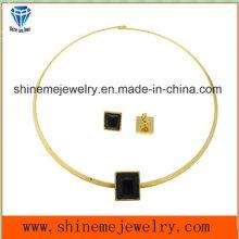 Joyería de la manera pendiente de la joyería del acero inoxidable collar del fósforo del perno prisionero (ERS6882)
