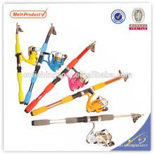 TSR054 chinois engins de pêche chine engins de pêche tele spin fiber de verre canne à pêche télé spin pole