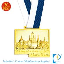 Kundenspezifische Vergoldung Druck Stempeln 3D Marathon Medaille zu Fabrik Preis