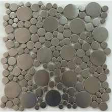 Roundness design stainless steel mosaic