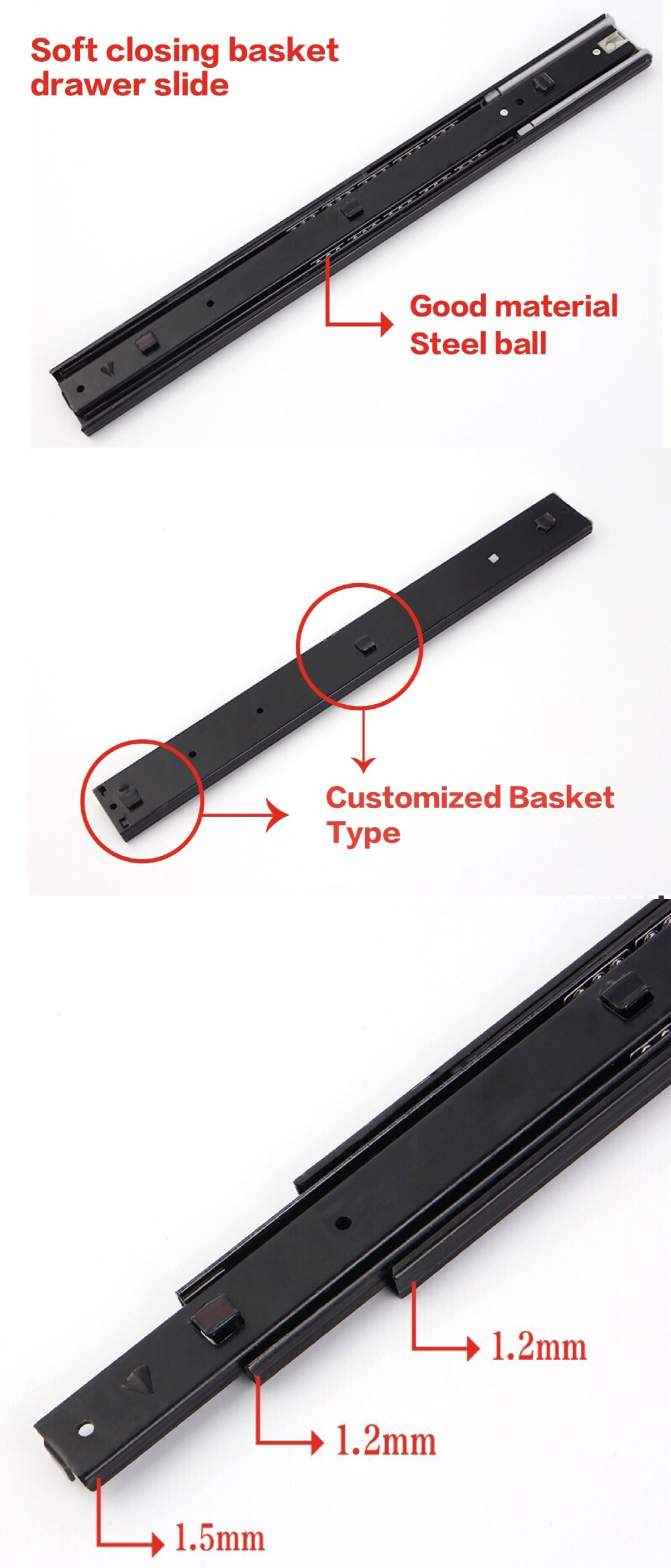 Basket Drawer Slide Type