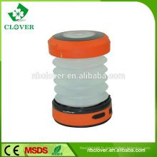 Lanterne de camping rétractable à la main 1W LED pliable imperméable à l'échelle