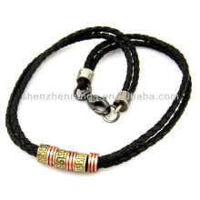 Punk style men's jewellery Braided leather necklace chain of clavicle