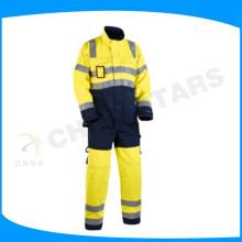 Tissu en argent réfléchissant à haute visibilité pour vêtements de sécurité