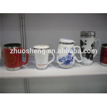 china top ten selling products ceramic mug with stainless steel base, custom printed thermos mug