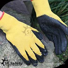 SRSAFETY 10 калибровочных поликатоновых лайнеров с покрытием серых латексных рабочих перчаток, экономичный стиль