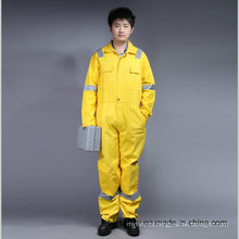65% Polyester 35%Cotton Safety Coverall Workwear with Reflective (BLY1016)