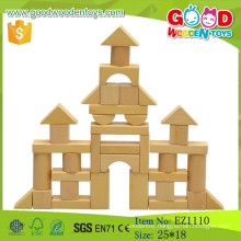 2015 Hot Sale DIY Natural Wooden Block Educational Wooden Toy Blocks