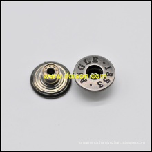 Anti. Nickel Jeans Button for Trousers