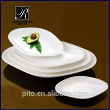 Plaque ovale blanche PT-1064