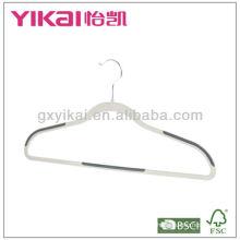 2013 New style anti-slip plastic hanger with tie rack,non-slip rubber