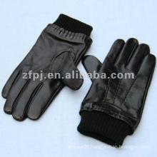new style men winter black genuine leather glove