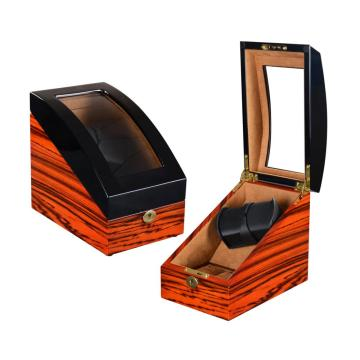 Single Watch Winder met zebrastrepen