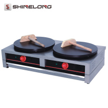 Factory price commercial Industrial stainless steel 2-Plate electric /Gas crepe maker