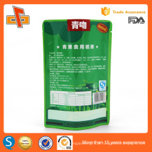 Alta qualidade chinês grau alimentar reutilizável stand up saco de plástico de alumínio reutilizável de plástico