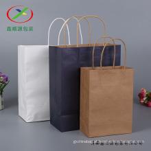 Lidar com embalagem de compras Brown Kraft Paper Bags