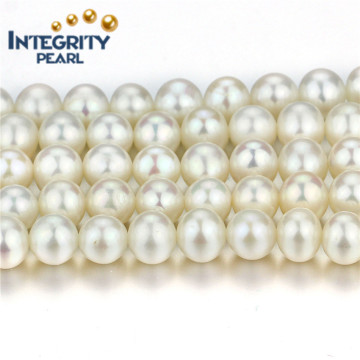 Hot Selling Freshwater Pearl Strand 8mm AA + Near Round Chinese Pearl Strand