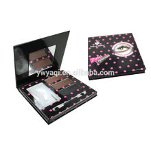 multi color eye brow kit/pallete with stencils,brush and mirror