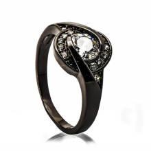 Modische Schwarz Kupfer Schmuck Handyhalter Schal Perle Ring Design für Frau