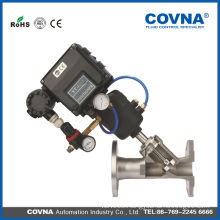 Stainless steel 304/316 pneumatic angle seat valve with flange type