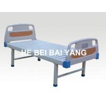 A-104 Cama de hospital plana con cabezal de cama ABS