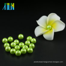 New Arrival UA66 Fashion Jewellery Accessories Peridot Glass Pearl Beads 6mm Stringing Pearls