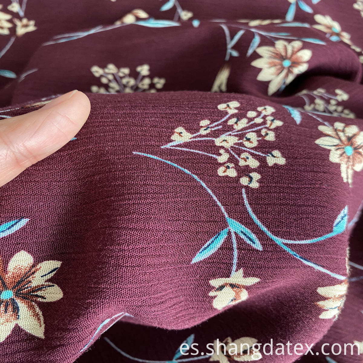 shaoxing crepe rayon print for cloth