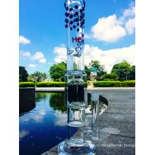 Новое дерево рукоятки прихода и медный перфоратор Стеклянная труба Стеклянная водопроводная труба