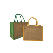 Promotional natural eco friendly jute tote bag