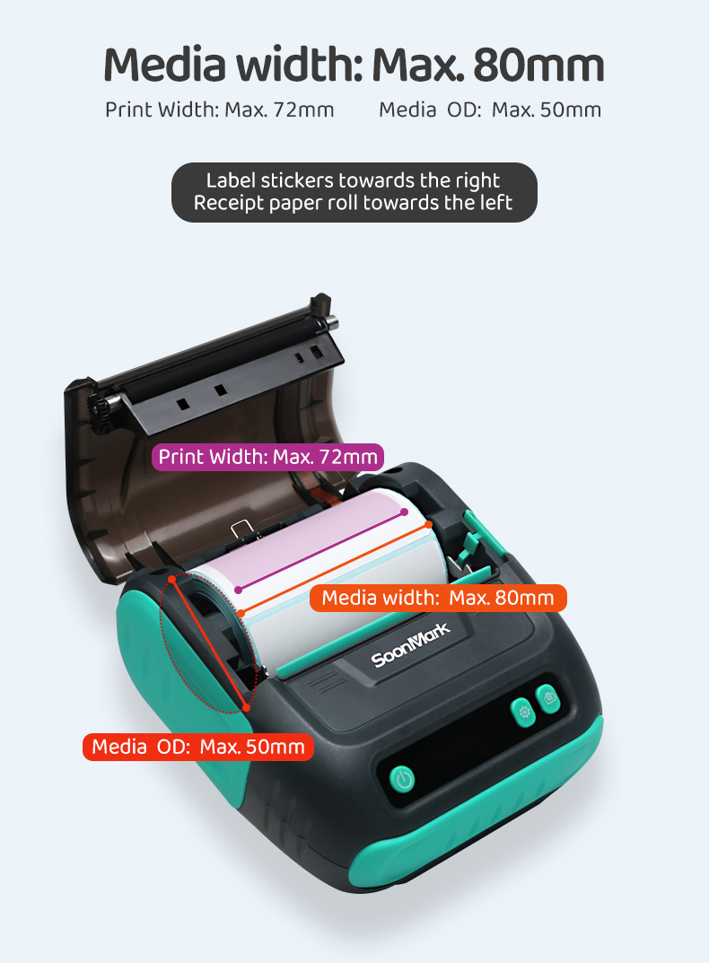 Bluetooth handheld Thermal Receipt Printer