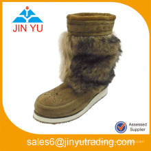 Made In China Pelz Winter Boot Frau Schuh