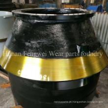 Forro do recipiente de peças resistentes ao desgaste da fundição
