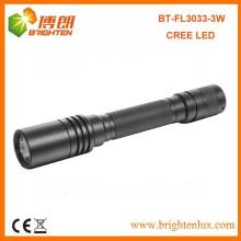 Factory Wholesale Good Aluminium 2 * AA alimenté par batterie brillant 180lumen 3watt Q3 Cree a conduit la meilleure torche de lampe de poche en aluminium