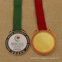 Пользовательские школа Награды медаль металла с эпоксидной Обложка