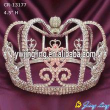 Moda Rhinestone Round Pumpkin Cap Crown