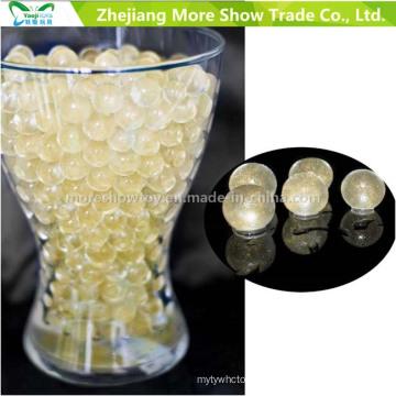 Golden Glitter Crystal Soil Cuentas de agua Centros de mesa Decoraciones de la boda