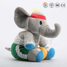 Brinquedo do bebê cinzento elefante de pelúcia peluches brinquedo macio
