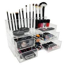 Luxury Handmade Clear Storage Box Acrylic Cosmetic Makeup Organizer