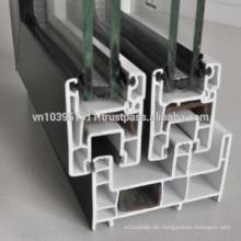 Aluminio exterior o interior de alta calidad / diseño de puertas de vidrio de plástico / precios de puertas de aluminio