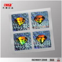 3d Hologrammaufkleber, Silber mit kundengebundenem Entwurf