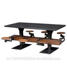 Incroyable Table Attaché Tabourets
