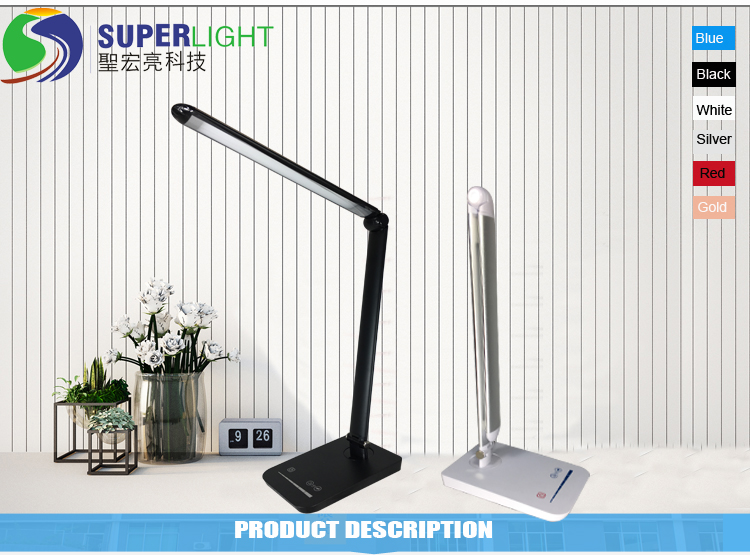 Aluminum Alloy Foldable LED Desk Lamp