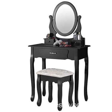 Vanity Mirrored Wooden Dressing Table