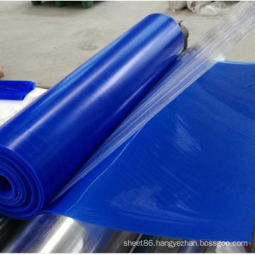 Blue Color Silicone Rubber Sheet Glossy Silicone Rubber Sheet