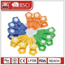 Kunststoff Kleidung Pegs, Kunststoff Kleidung Clips, Kunststoff-Clip (12pcs)