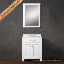 Белый современный дизайн Одноместный раковина ванной тщеславие
