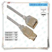 Câble USB, câble mâle à femelle Plaqué or