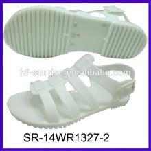 SR-14WR1327 new fahion flat jelly sandals palstic shoes sandals wholesale jelly sandals
