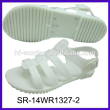 SR-14WR1327 sandálias de geléia plana fahion novo sandálias de sapatos palstic atacado sandálias de geléia