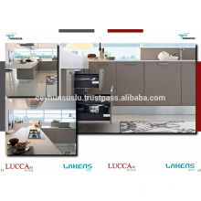 Melhor gabinete de cozinha de preço barato com porta de pvc Soft Touch em Mdf